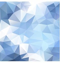 light blue polygonal background vector image vector image