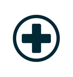 Medical cross icon vector