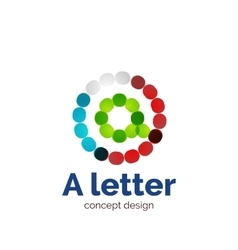 Modern minimalistic dotted letter concept vector