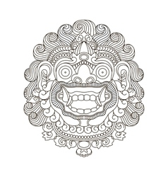 Mythological gods head indonesian traditional art vector image
