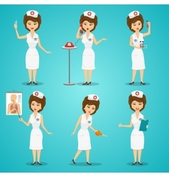 Nurse Character Set vector image vector image