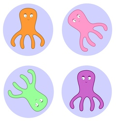 Octopuses in circles vector
