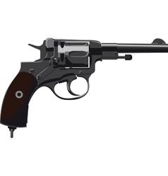 Old Revolver Nagant vector image vector image