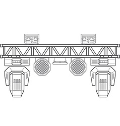 outline stage metal truss concert lighting vector image