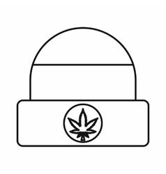 Rastafarian cap icon outline style vector