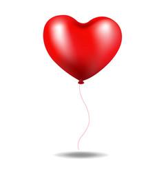 red balloon heart vector image vector image
