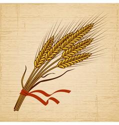 Retro Wheat vector image