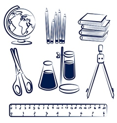 school items2 vector image vector image