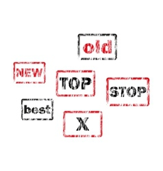 Set of Retro Stamps vector image