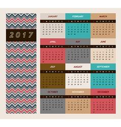 Simple 2017 calendar week vector