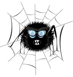 Spider in web vector