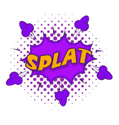 Splat explosion bubble icon pop art style vector