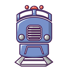 train icon cartoon style vector image