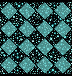 Turquoise and black seamless chess styled vector