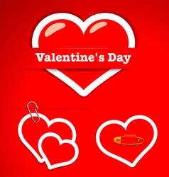 Valentines Day Stickers vector image vector image