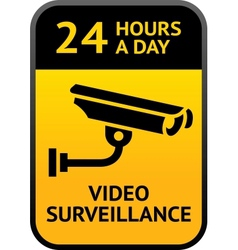 Video surveillance sign vector image vector image