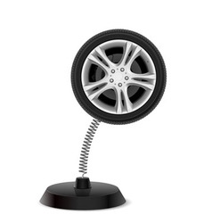 Wheel souvenir vector