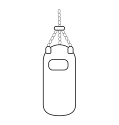 Outline punching bag training gym icon vector