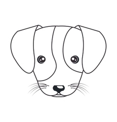 Cartoon cute puppy hand draw vector