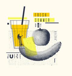 Fresh summer day stylish poster trendy graphics vector