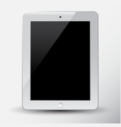 white tablet pc vector image