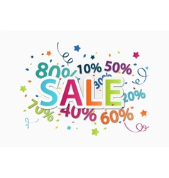 Sale celebration with percent discount vector