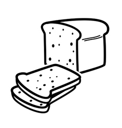 Bread loaf vector