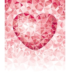 Mosaic heart vector