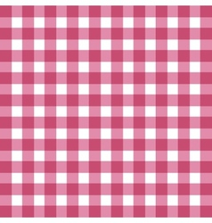 Flat easy tilable red and white gingham pattern vector