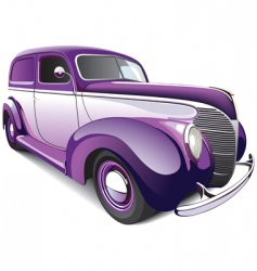 hot rod coupe vector image