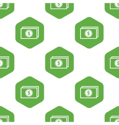 Dollar banknote pattern vector