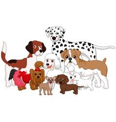 Cartoon dog collection vector image