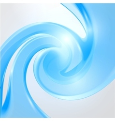Abstract waving blue background vector