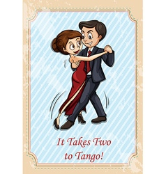 It takes two to tango vector