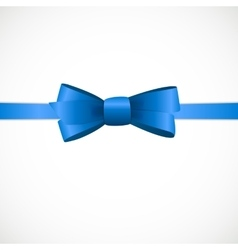Gift card with blue ribbon and bow vector