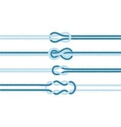 Sailor knot dividers set vector