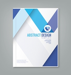 abstract blue line design background template vector image vector image