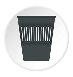 Bin for papers icon circle vector