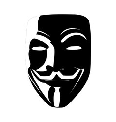 Black mask anonymous vector