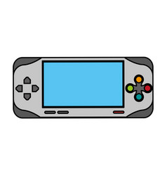 Colorful graphic control for video games with vector