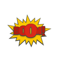 Comic boom big icon flat style vector