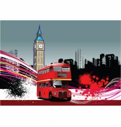 grunge London background vector image