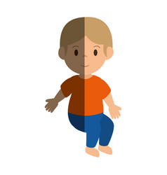 little boy avatar icon vector image