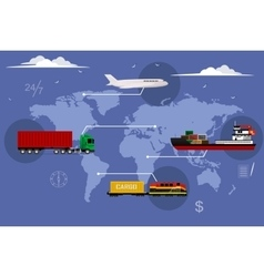 Logistic concept flat background vector