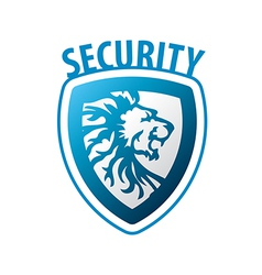 Logo shield in the form of a lion vector