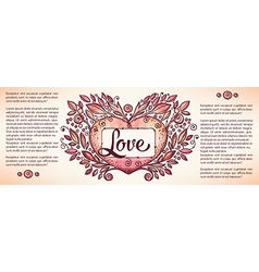 love banner vector image vector image