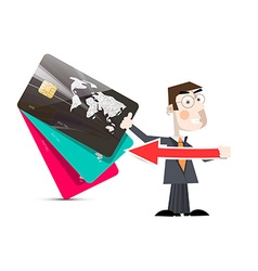 Man with Credit Cards vector image