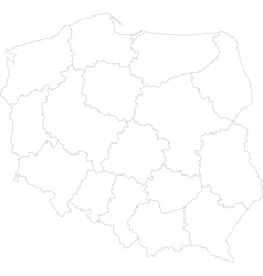 Outline poland map vector
