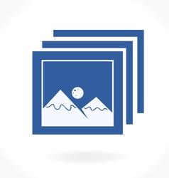 Photos icon vector