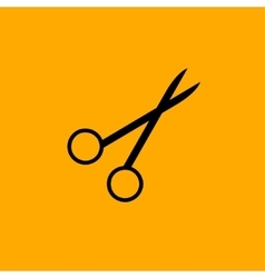 Scissors symbol isolated on white background vector image vector image